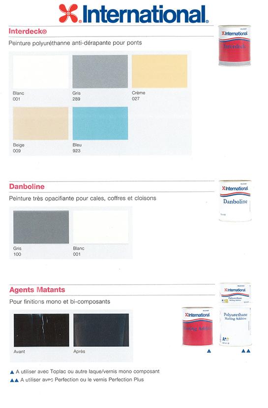 Nuancier International Interdeck - danboline - Agent mattant - color card